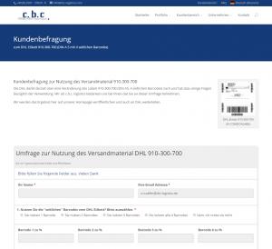 Kundenbefragung zum DHL Versandlabel 910-300-700 - Versandlogistiker