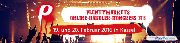 plentyMarkets online retailer Congress 2016 - Versandlogistiker