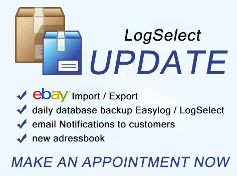 LogSelect Update & guide data DHL