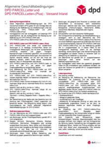 AGB DPD PARCELLetter 03-2017 - Versand Inland - Versandlogistiker