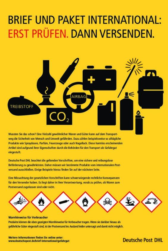DHL Gefahrgutversand - Versandlogistiker